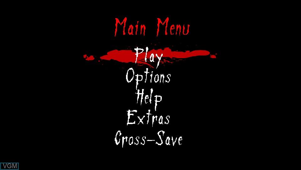 Menu screen of the game Neverending Nightmares on Sony PS Vita