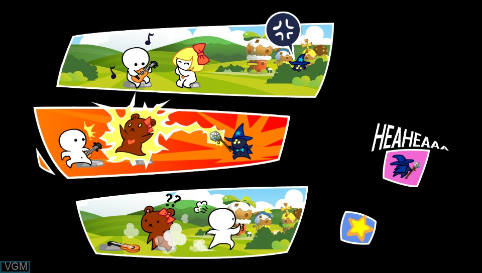 Menu screen of the game One Tap Hero on Sony PS Vita