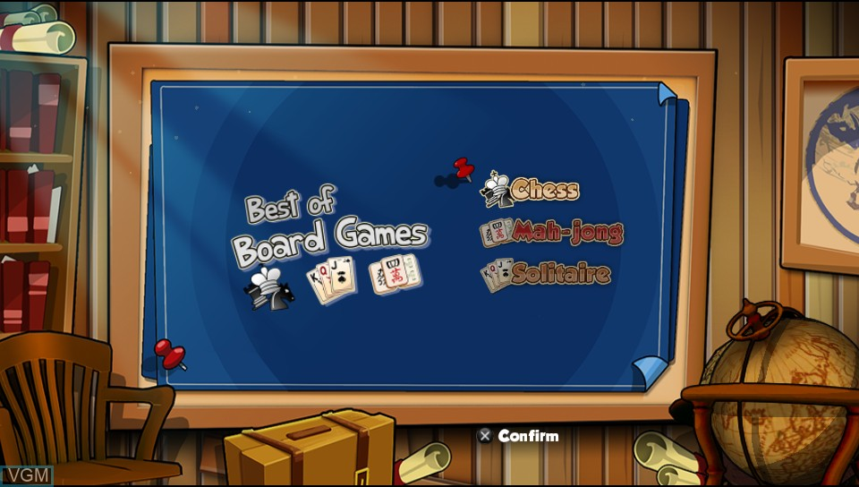 Menu screen of the game Best of Board Games on Sony PS Vita