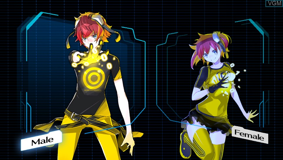 Menu screen of the game Digimon Story Cyber Sleuth on Sony PS Vita