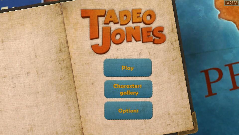 Menu screen of the game Tadeo Jones on Sony PS Vita
