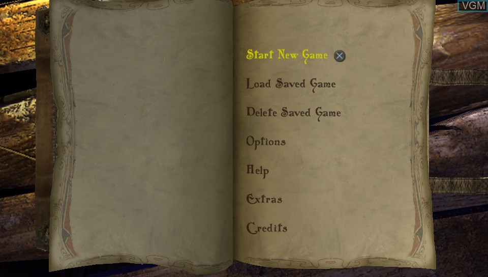 Menu screen of the game Bard's Tale, The - Remastered and Resnarkled on Sony PS Vita