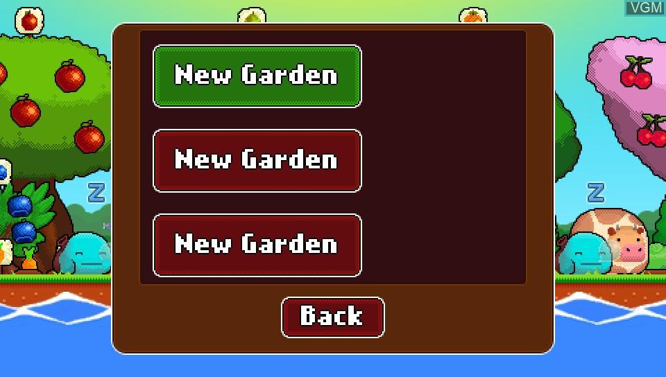 Menu screen of the game Plantera on Sony PS Vita