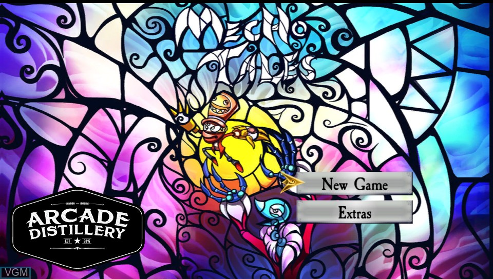 Menu screen of the game Arcade Distillery on Sony PS Vita