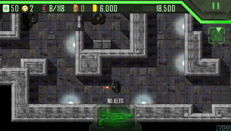 In-game screen of the game Alien Breed on Sony PS Vita