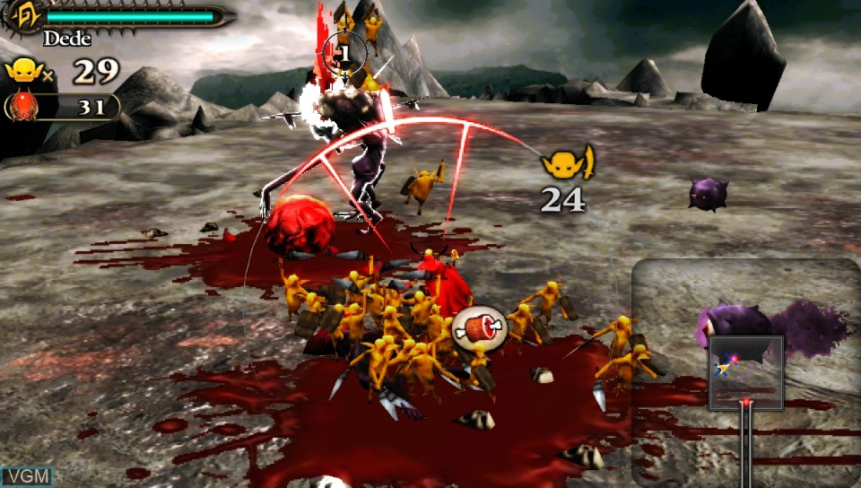 In-game screen of the game Army Corps of Hell on Sony PS Vita