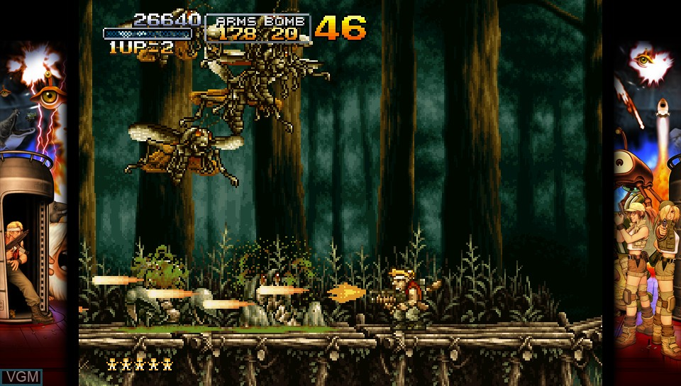 In-game screen of the game Metal Slug 3 on Sony PS Vita