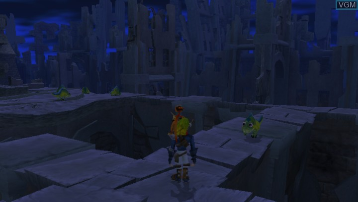 In-game screen of the game Jak II HD on Sony PS Vita