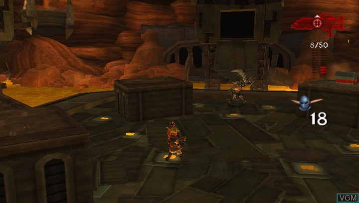 In-game screen of the game Jak 3 HD on Sony PS Vita