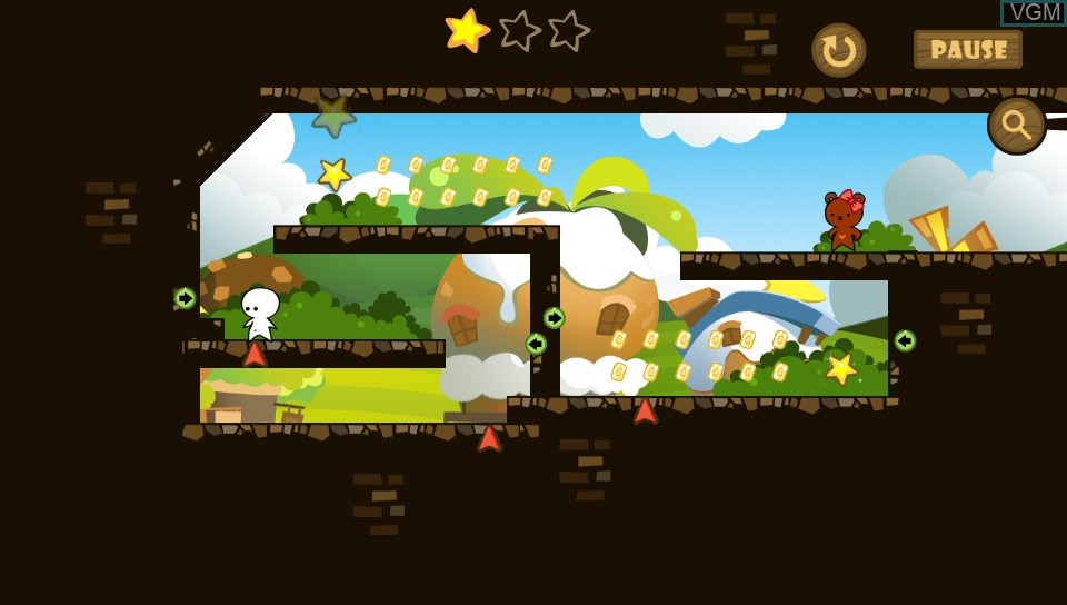 In-game screen of the game One Tap Hero on Sony PS Vita