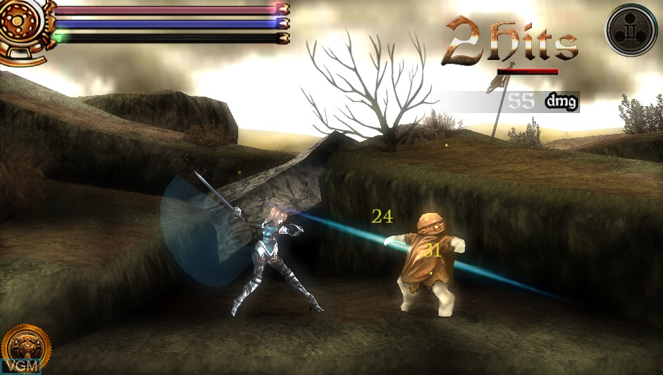 In-game screen of the game AeternoBlade on Sony PS Vita