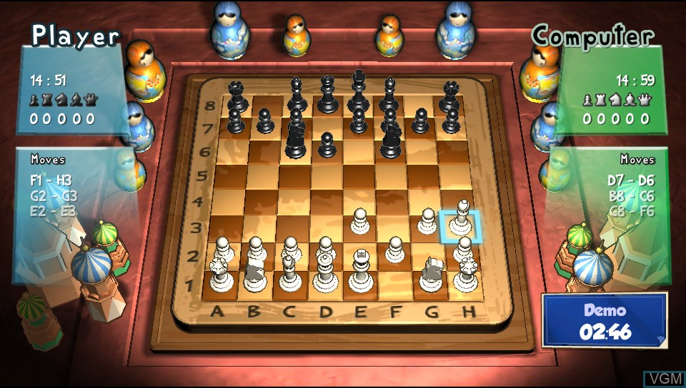 In-game screen of the game Best of Board Games on Sony PS Vita