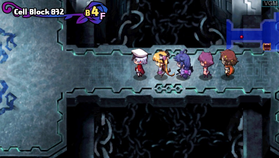 In-game screen of the game Criminal Girls - Invite Only on Sony PS Vita