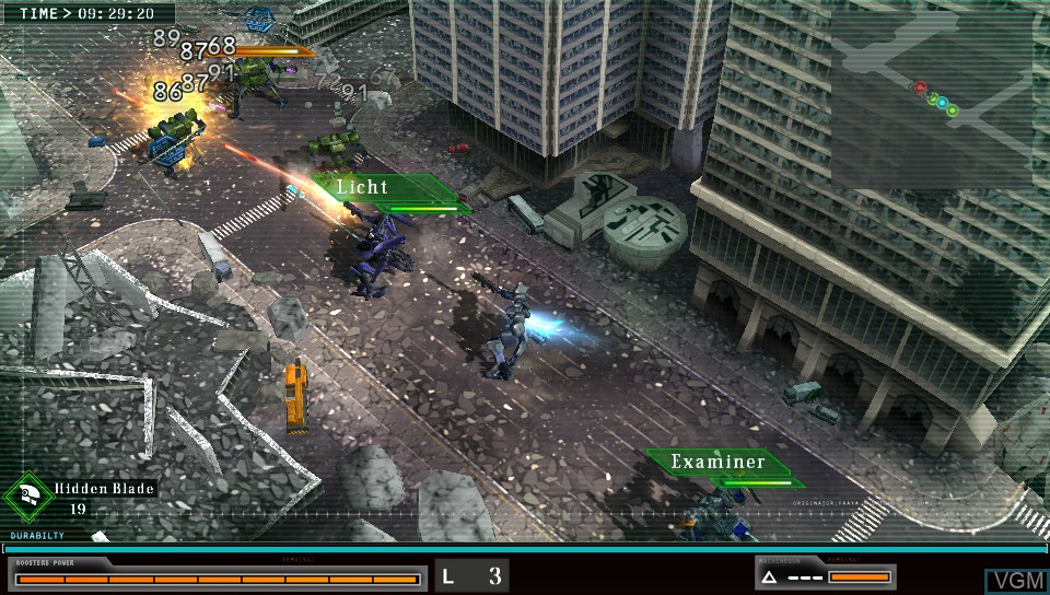 In-game screen of the game Damascus Gear - Operation Tokyo on Sony PS Vita