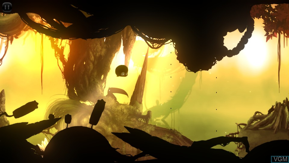 In-game screen of the game BADLAND on Sony PS Vita