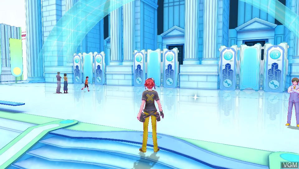 In-game screen of the game Digimon Story Cyber Sleuth on Sony PS Vita