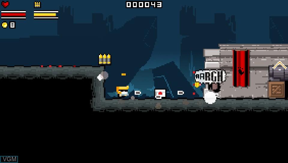 In-game screen of the game Gunslugs on Sony PS Vita