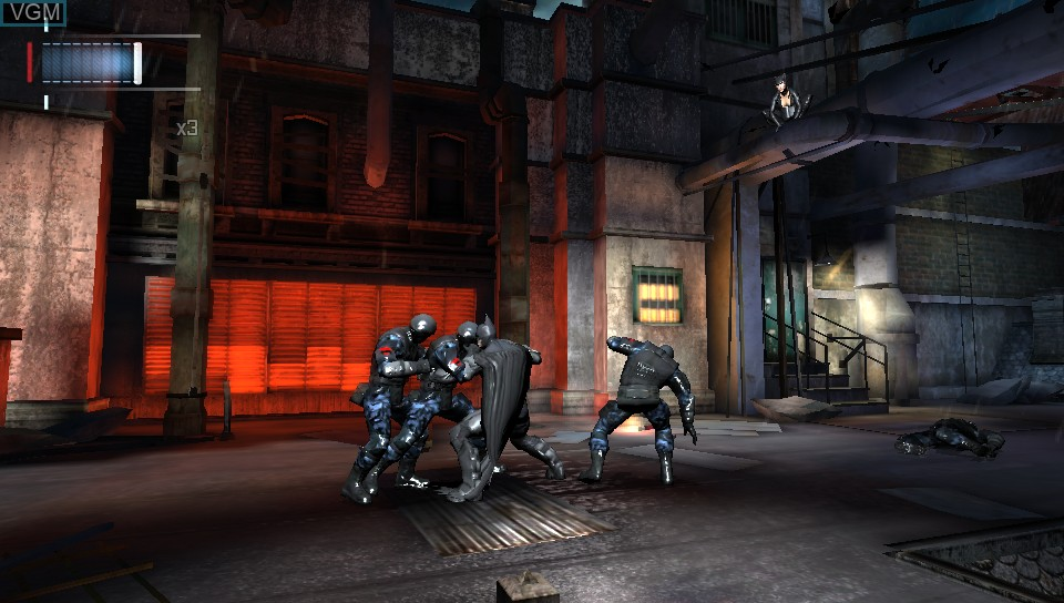In-game screen of the game Batman - Arkham Origins Blackgate on Sony PS Vita