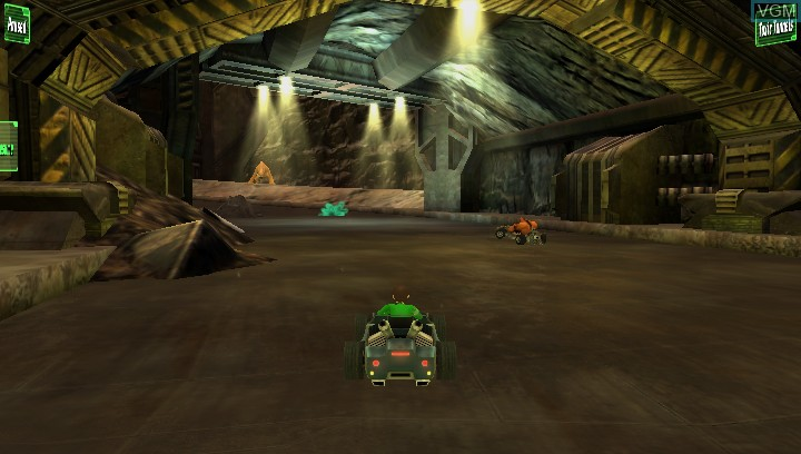 In-game screen of the game Ben 10 - Galactic Racing on Sony PS Vita