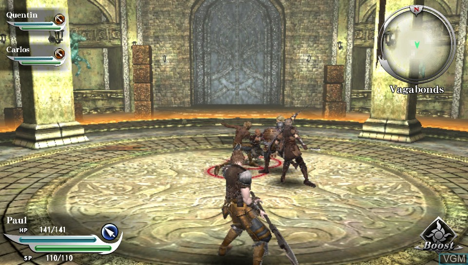 In-game screen of the game Valhalla Knights 3 on Sony PS Vita