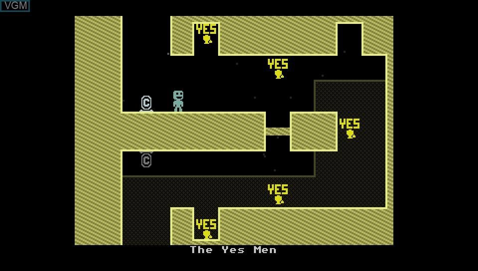 In-game screen of the game VVVVVV on Sony PS Vita
