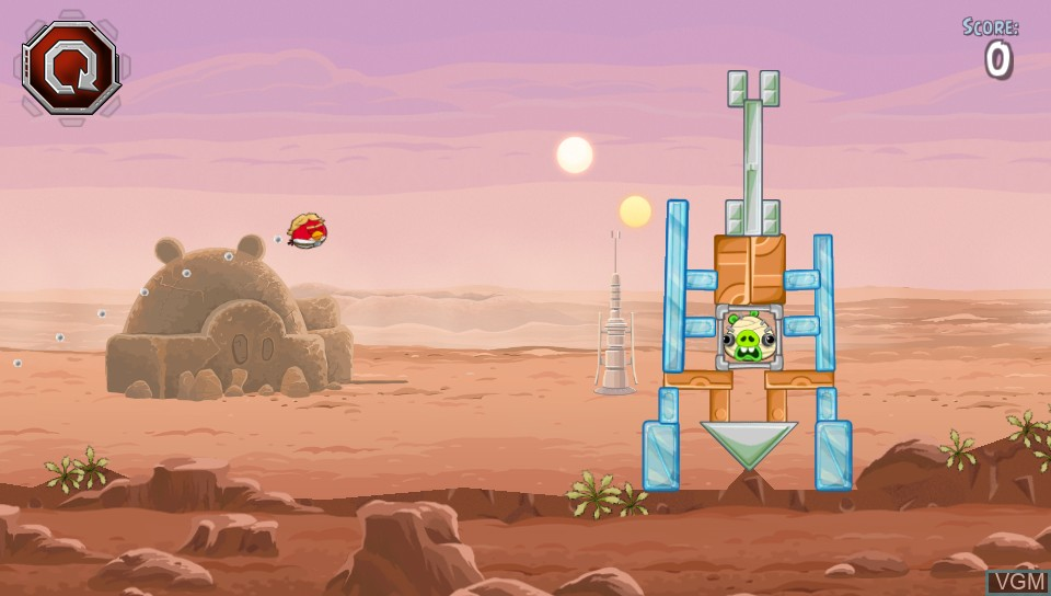 In-game screen of the game Angry Birds Star Wars on Sony PS Vita