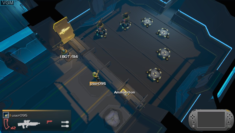 In-game screen of the game Helldivers on Sony PS Vita