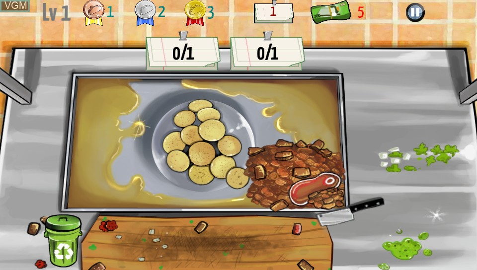 In-game screen of the game Taco Master on Sony PS Vita