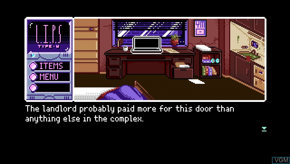 In-game screen of the game 2064 - Read Only Memories on Sony PS Vita