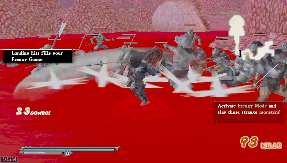 In-game screen of the game Berserk and the Band of the Hawk on Sony PS Vita