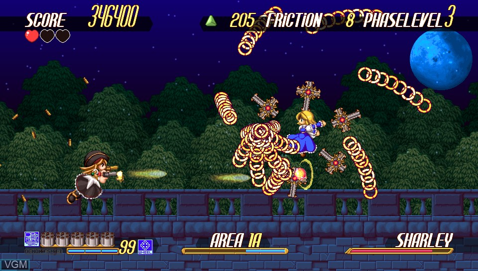 In-game screen of the game Gundemoniums on Sony PS Vita