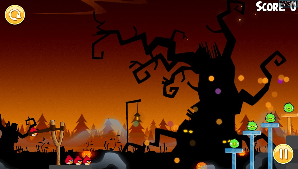 In-game screen of the game Angry Birds Trilogy on Sony PS Vita