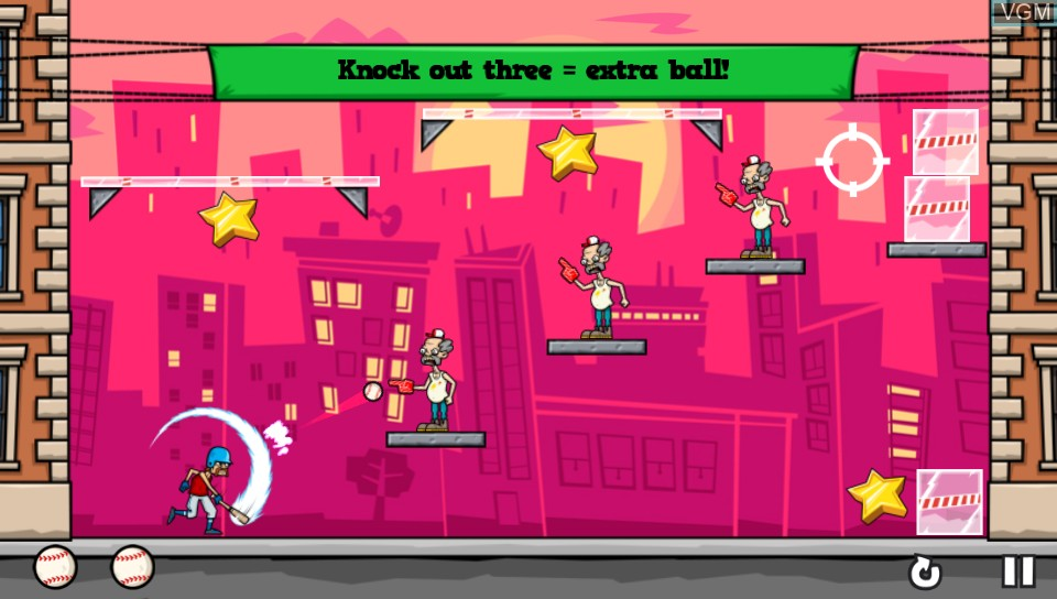 In-game screen of the game Baseball Riot on Sony PS Vita