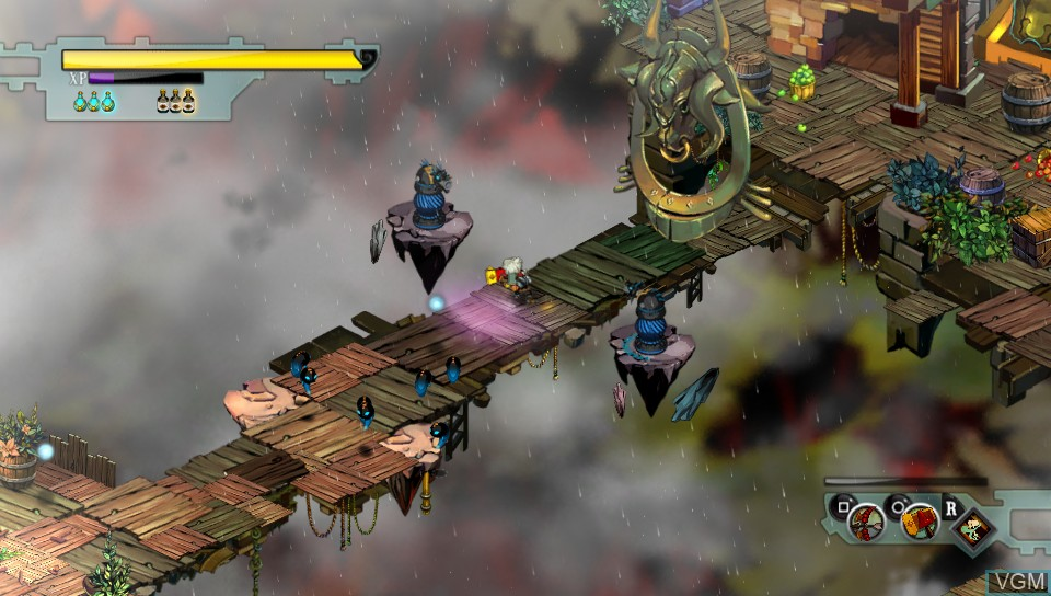 In-game screen of the game Bastion on Sony PS Vita