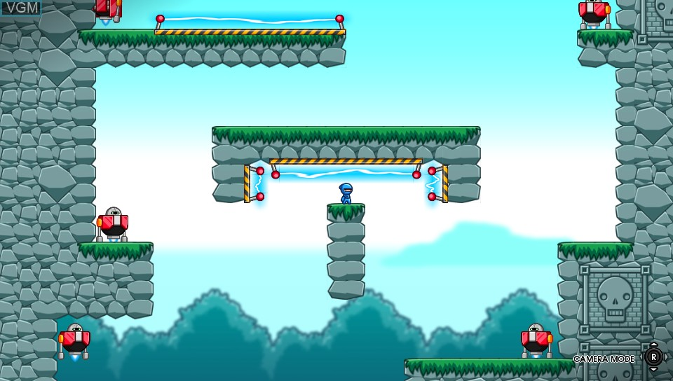 In-game screen of the game 10 Second Ninja X on Sony PS Vita