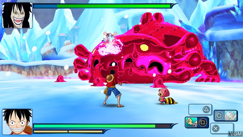 In-game screen of the game One Piece - Unlimited World Red on Sony PS Vita