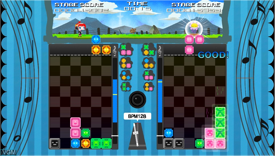 In-game screen of the game Magical Beat on Sony PS Vita