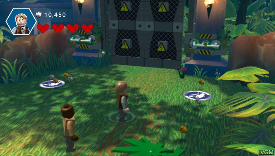 In-game screen of the game LEGO Jurassic World on Sony PS Vita