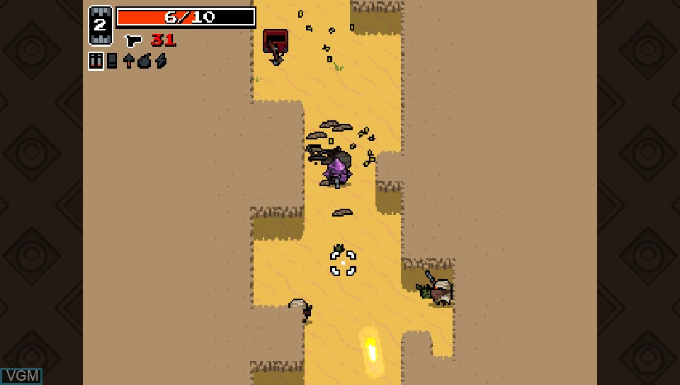 In-game screen of the game Nuclear Throne on Sony PS Vita