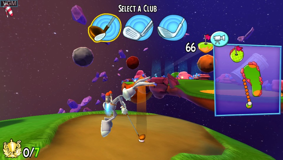 In-game screen of the game Looney Tunes - Galactic Sports on Sony PS Vita