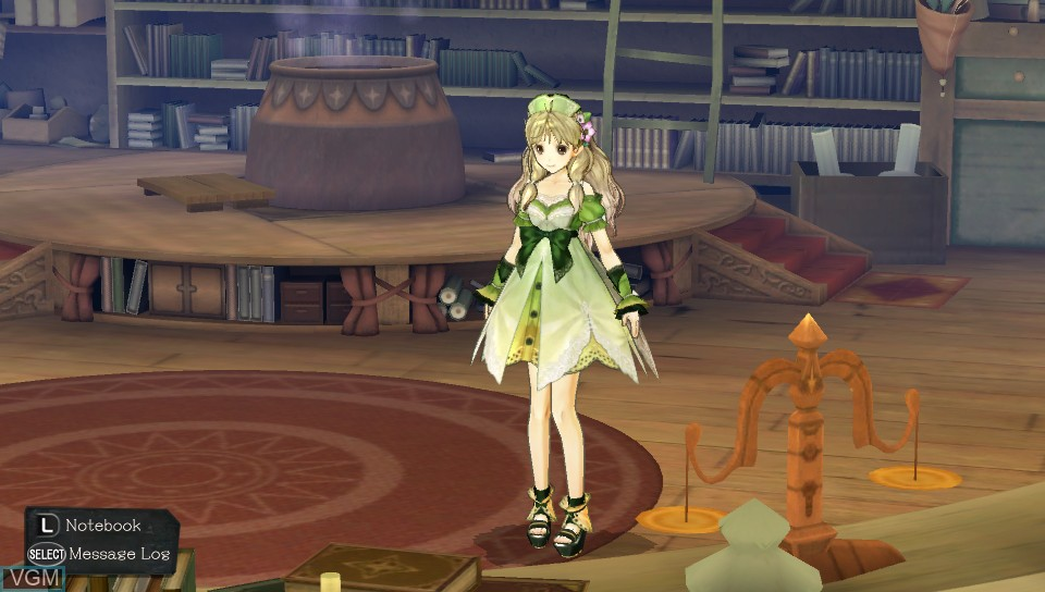 In-game screen of the game Atelier Ayesha Plus - The Alchemist of Dusk on Sony PS Vita