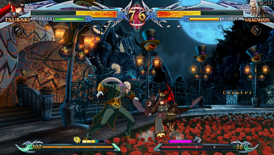 In-game screen of the game BlazBlue - Chrono Phantasma Extend on Sony PS Vita