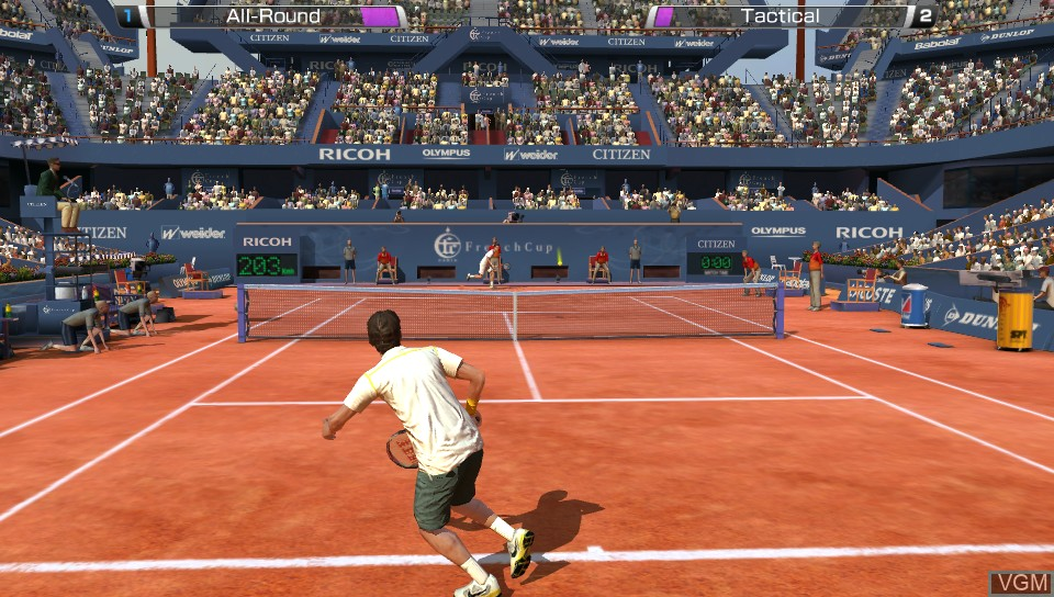 In-game screen of the game Virtua Tennis 4 - World Tour Edition on Sony PS Vita
