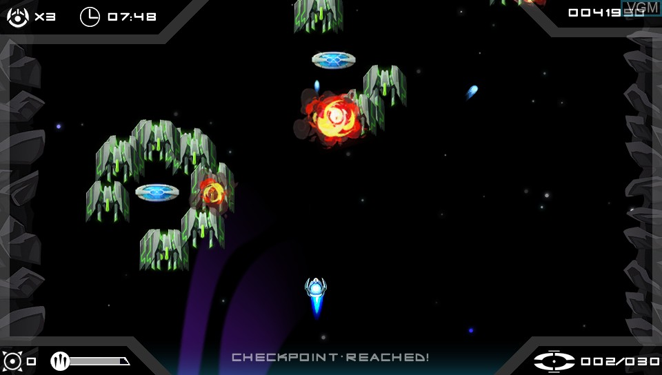 In-game screen of the game Velocity Ultra on Sony PS Vita