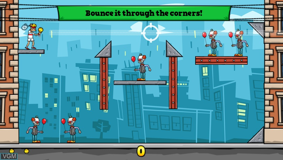 In-game screen of the game Tennis in the Face on Sony PS Vita