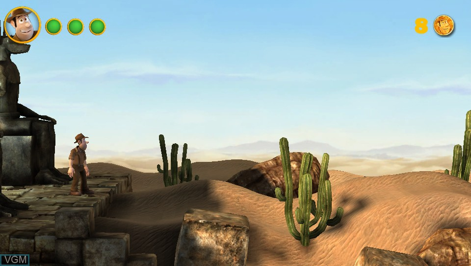 In-game screen of the game Tadeo Jones on Sony PS Vita