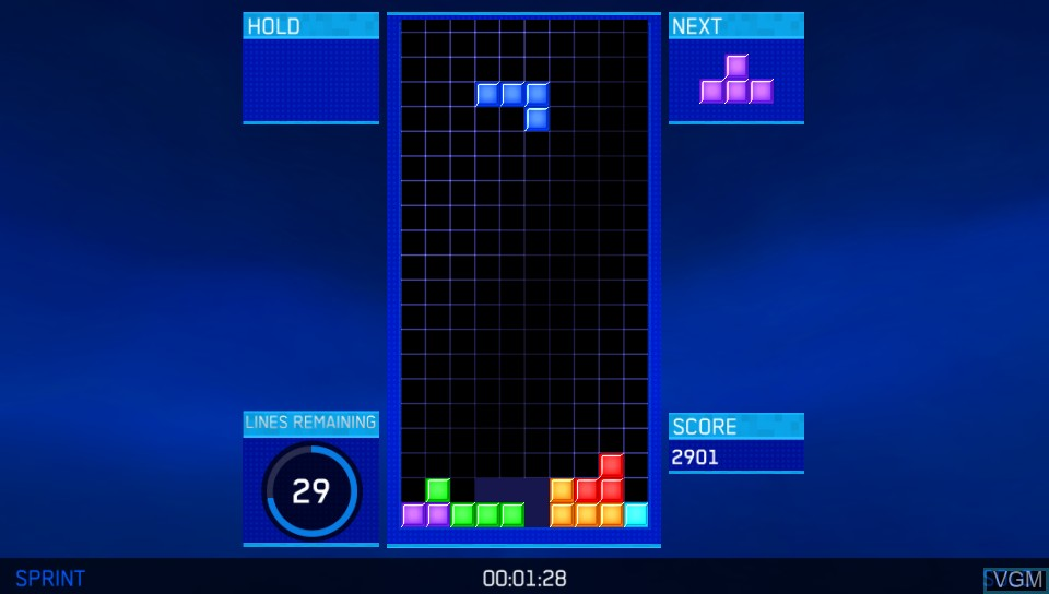 In-game screen of the game Tetris Ultimate on Sony PS Vita