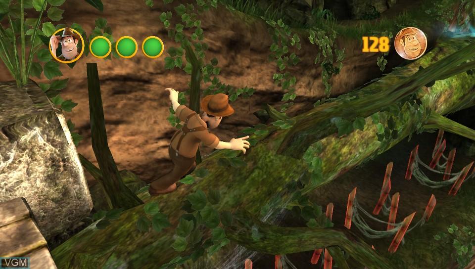 In-game screen of the game Tadeo Jones y el Manuscrito Perdido on Sony PS Vita
