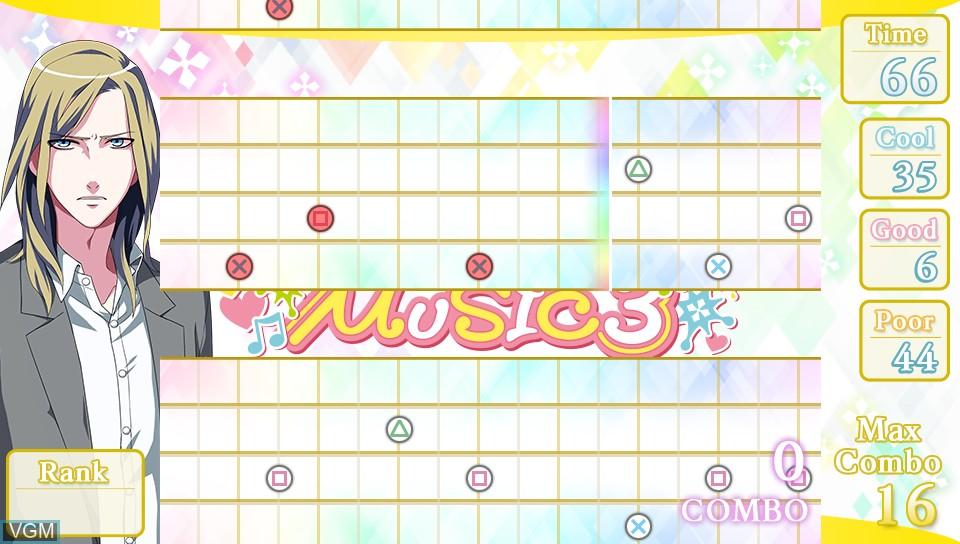 In-game screen of the game Uta no * Prince-Sama - Music 3 on Sony PS Vita