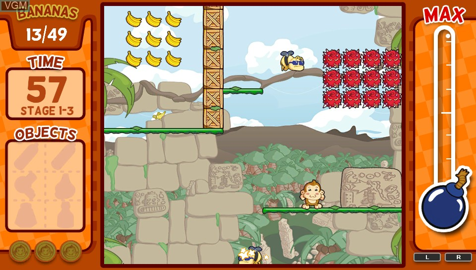 In-game screen of the game Baboon! on Sony PS Vita